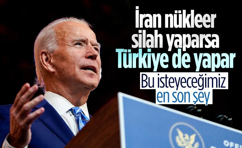 Biden: İran nükleer silah yaparsa Türkiye de yapmak ister