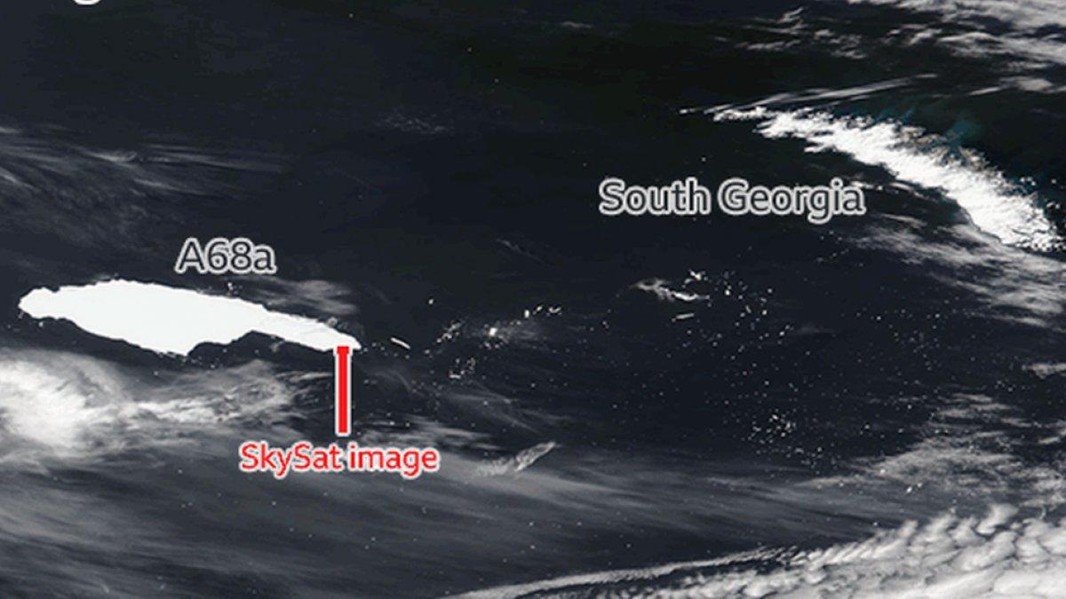 Dev buz dağı, Güney Georgia Adası'na çarpacak #2