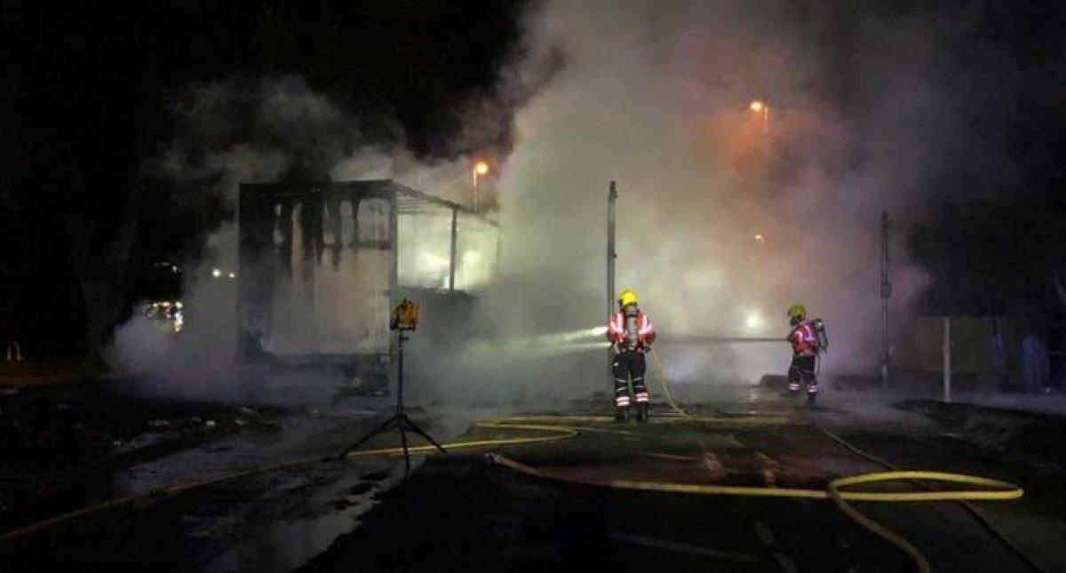 İngiltere'de kimyasal madde taşıyan tankerde yangın #2