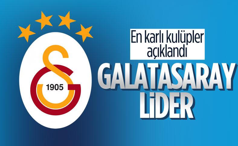 Galatasaray, faaliyet geliri ve karında lider