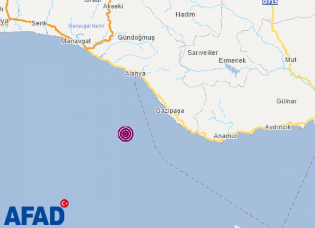 Antalya ve çevresinde hissedilen deprem #1