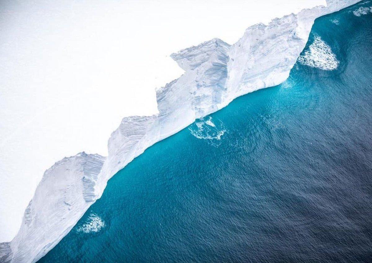 Dünyanın en büyük buz dağındaki erime gözlendi #5