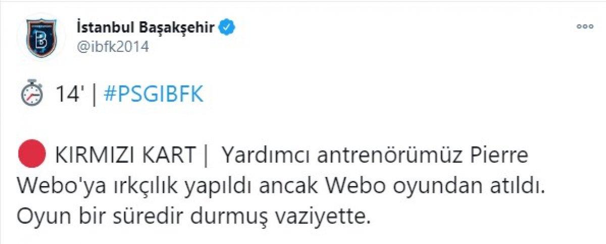 PSG - Başakşehir, maçına ırkçılık sebebiyle ara verildi #2