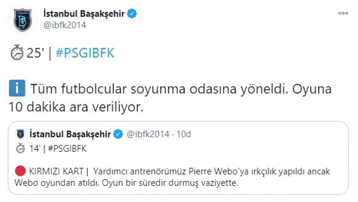 PSG - Başakşehir, maçına ırkçılık sebebiyle ara verildi #3