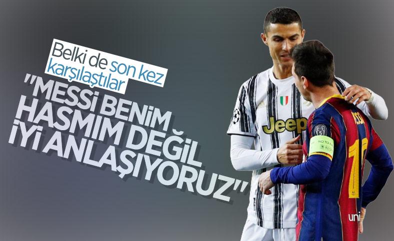 Ronaldo: Messi hasmım değil, iyi anlaşıyoruz