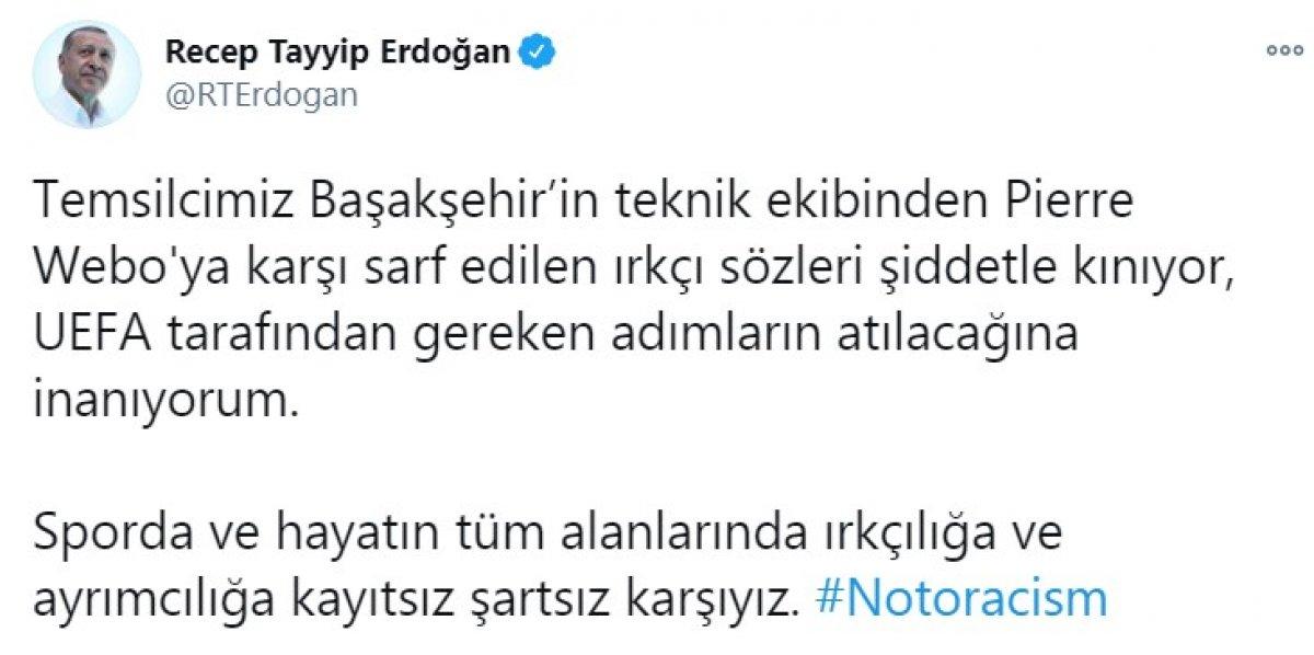 Cumhurbaşkanı Erdoğan ırkçılıkla ilgili tweet attı #2