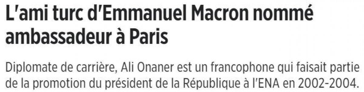 Türkiye nin Paris Büyükelçiliği görevine Ali Onaner atandı #4