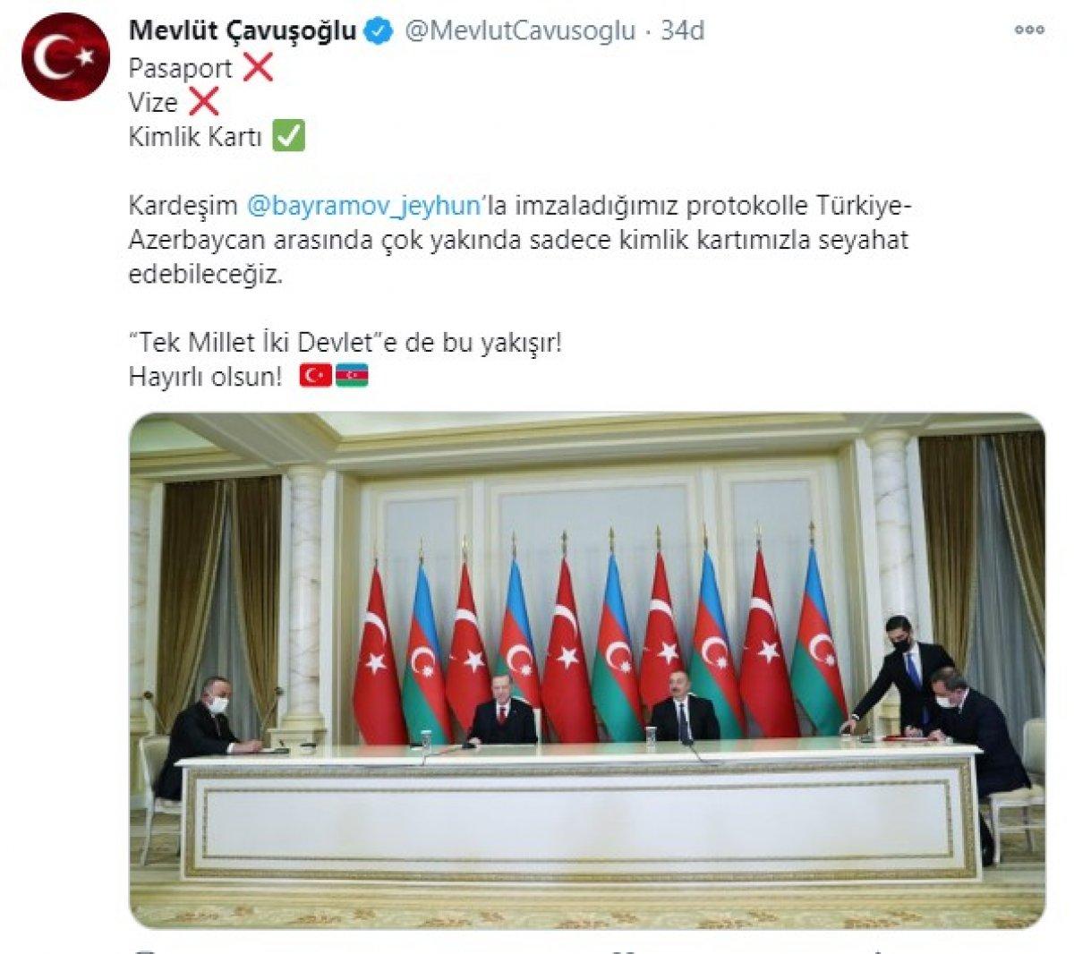 Türkiye-Azerbaycan arasında vizeler kalkıyor #1