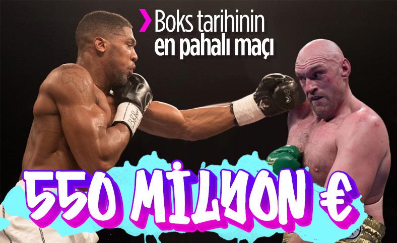 Anthony Joshua ve Tyson Fury dev maçtan 550 milyon euro kazanacak