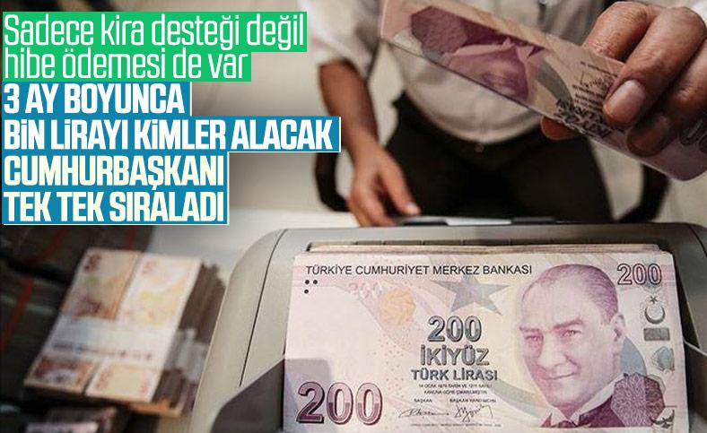 Cumhurbaşkanı Erdoğan, esnaflar için uygulanacak ek destek paketini duyurdu