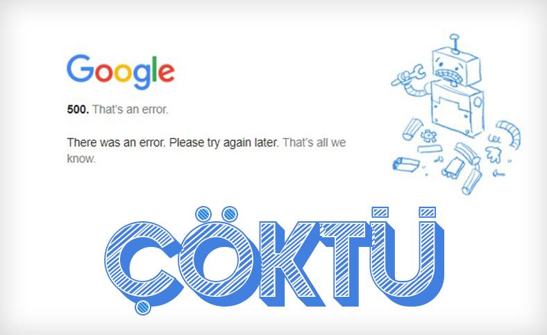 YouTube ve Gmail gibi Google servisleri çöktü: İşte tüm detaylar