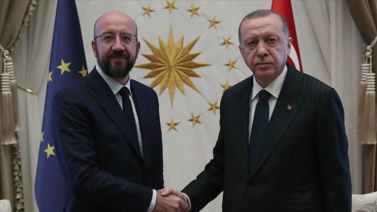 Cumhurbaşkanı Erdoğan, AB Konseyi Başkanı ile görüştü #1