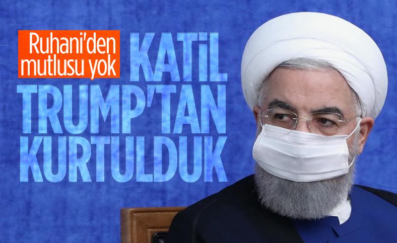 Trump'ın gidişi İran Cumhurbaşkanı Ruhani'yi mutlu etti