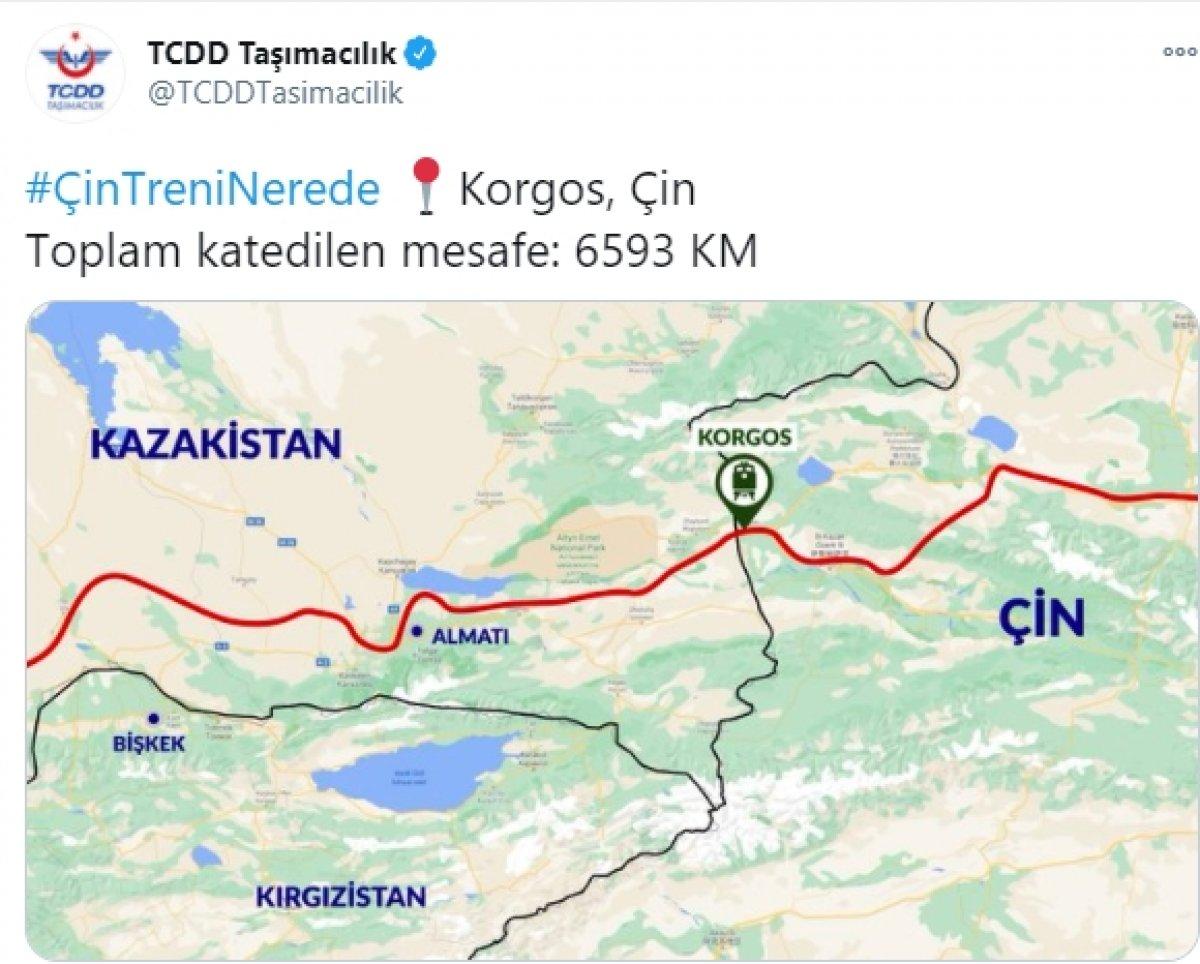 İstanbul dan törenle uğurlanan ilk ihracat treni Çin e ulaştı  #1
