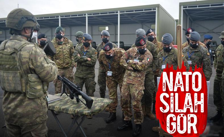 NATO tatbikatında yabancı askerler, Kara Kuvvetleri'nin Piyade Tüfeği'ni inceledi