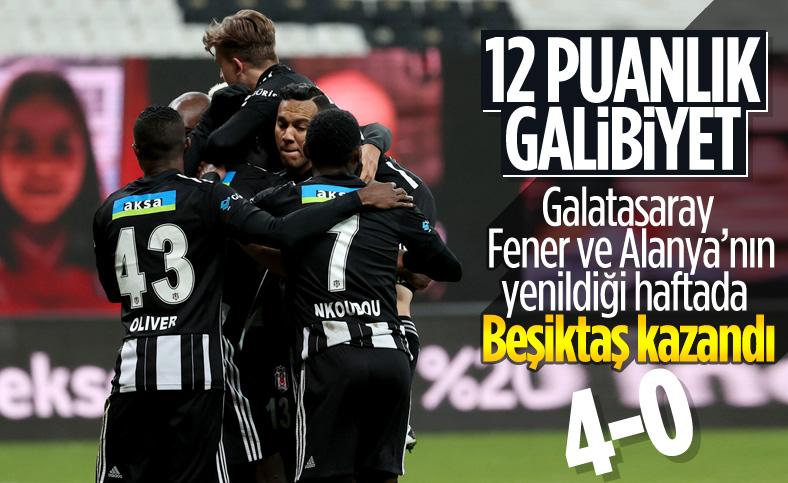 Beşiktaş evinde Erzurumspor'u 4 golle devirdi