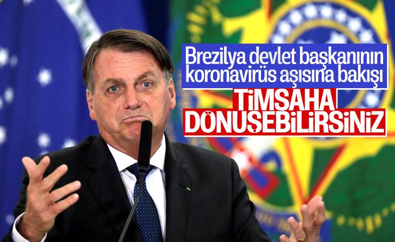 Jair Bolsonaro: Koronavirüs aşısı yaptıranlar, timsaha dönüşebilir