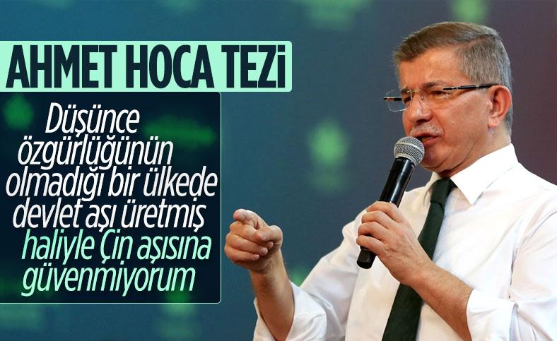 Ahmet Davutoğlu: Çin'in koronavirüs aşısına güvenle bakamıyorum