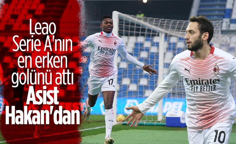Leao Serie A'nın en erken golünü attı