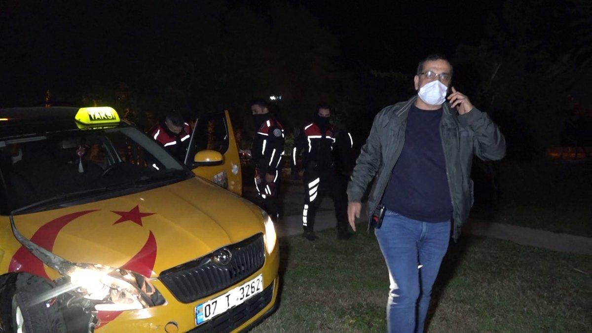 Antalya da taksi çalan şüpheli, polis tarafından yakalandı #2
