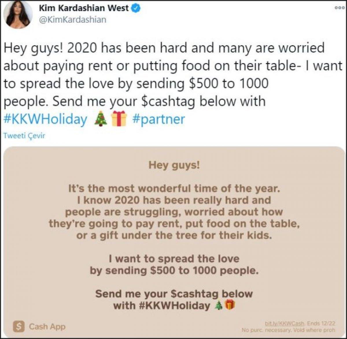 yy 208 - Kim Kardashian bin kişiye para verecek