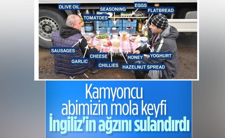Türk şoförün masası İngiliz basınının dikkatini çekti