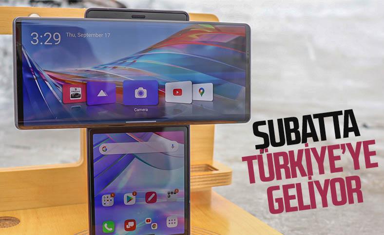Dönebilen ekrana sahip T şeklindeki telefon LG Wing, Türkiye'ye geliyor