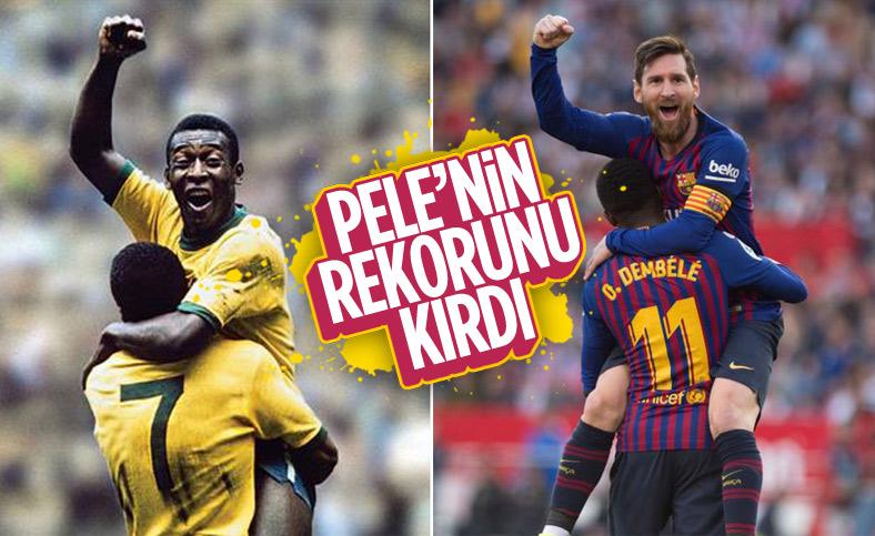 Lionel Messi, Pele'nin gol rekorunu kırdı