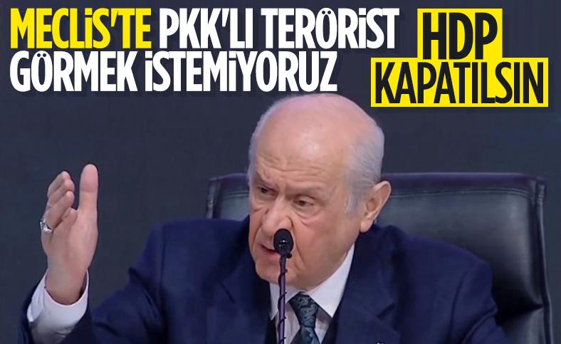 Devlet Bahçeli, HDP'nin kapatılması için çağrısını yineledi