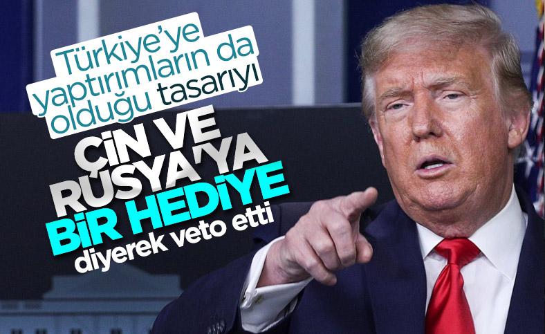 Trump, Türkiye'ye yaptırımları da içeren tasarıyı veto etti