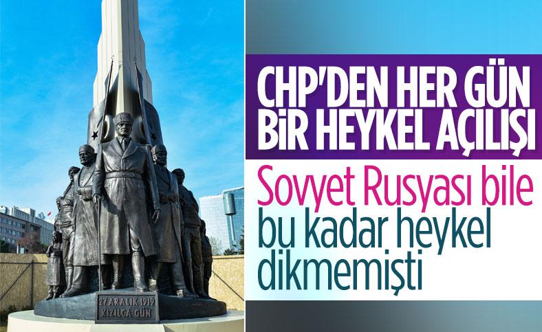 CHP, Ankara'ya bir heykel daha yaptı