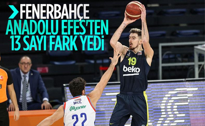 Fenerbahçe, Anadolu Efes'e mağlup oldu