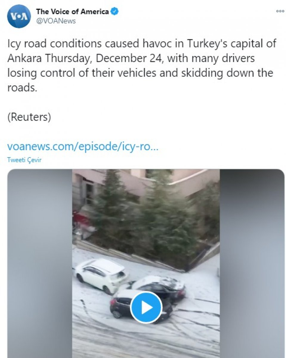 Ankara daki kaygan yollar dünya basınında alay konusu oldu #2