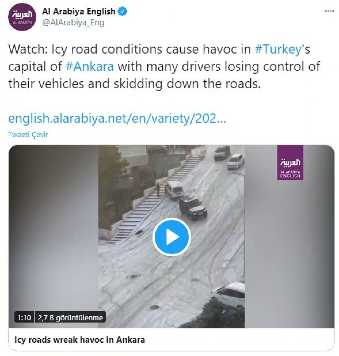 Ankara daki kaygan yollar dünya basınında alay konusu oldu #3