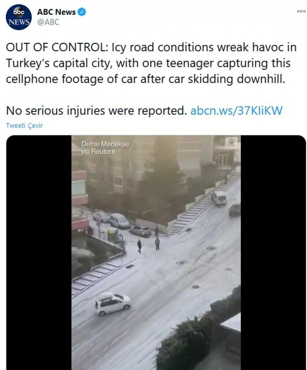 Ankara daki kaygan yollar dünya basınında alay konusu oldu #1