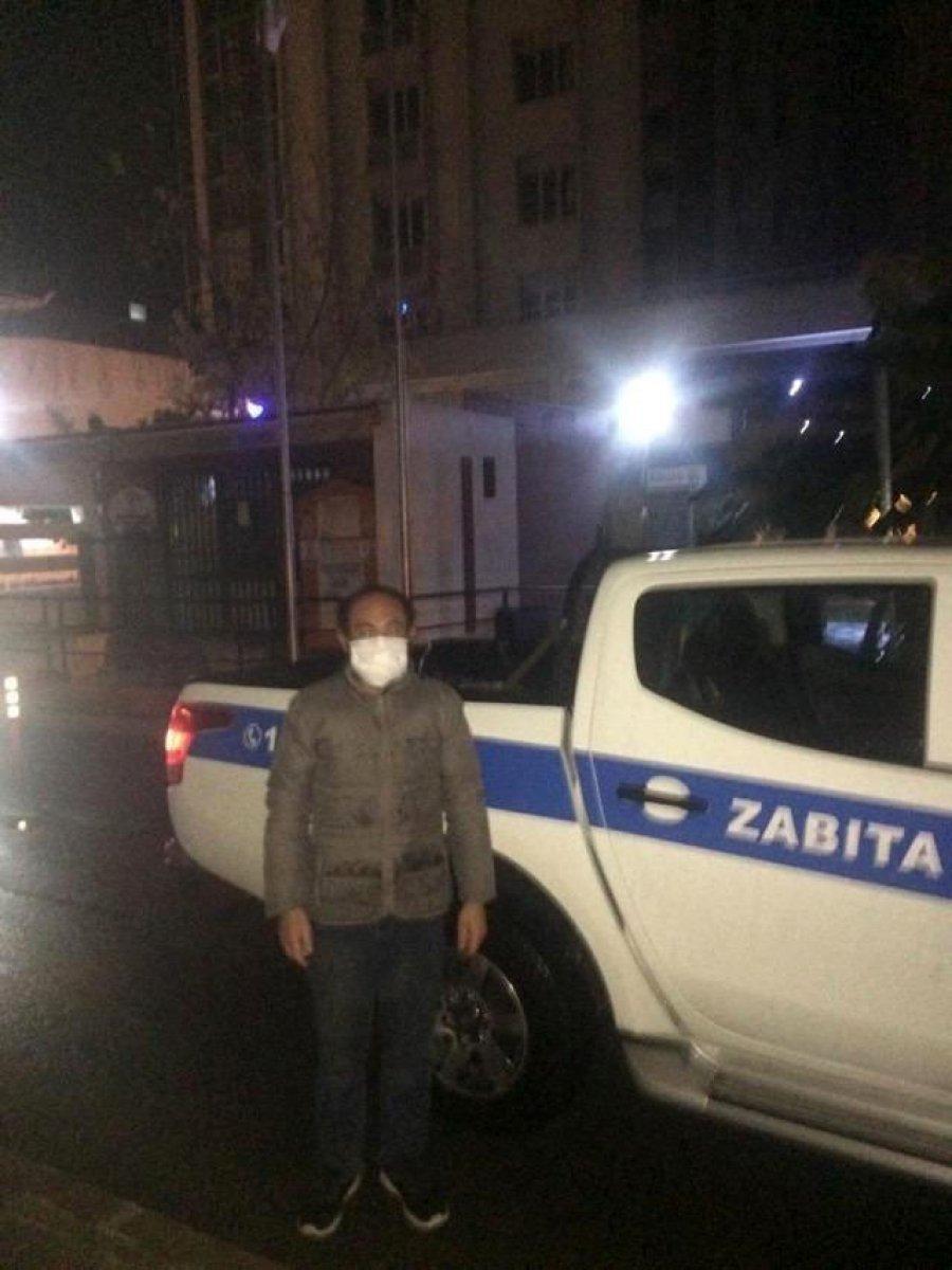 Antalya da ceza kesilen evsiz sokakta uyurken bulundu #3