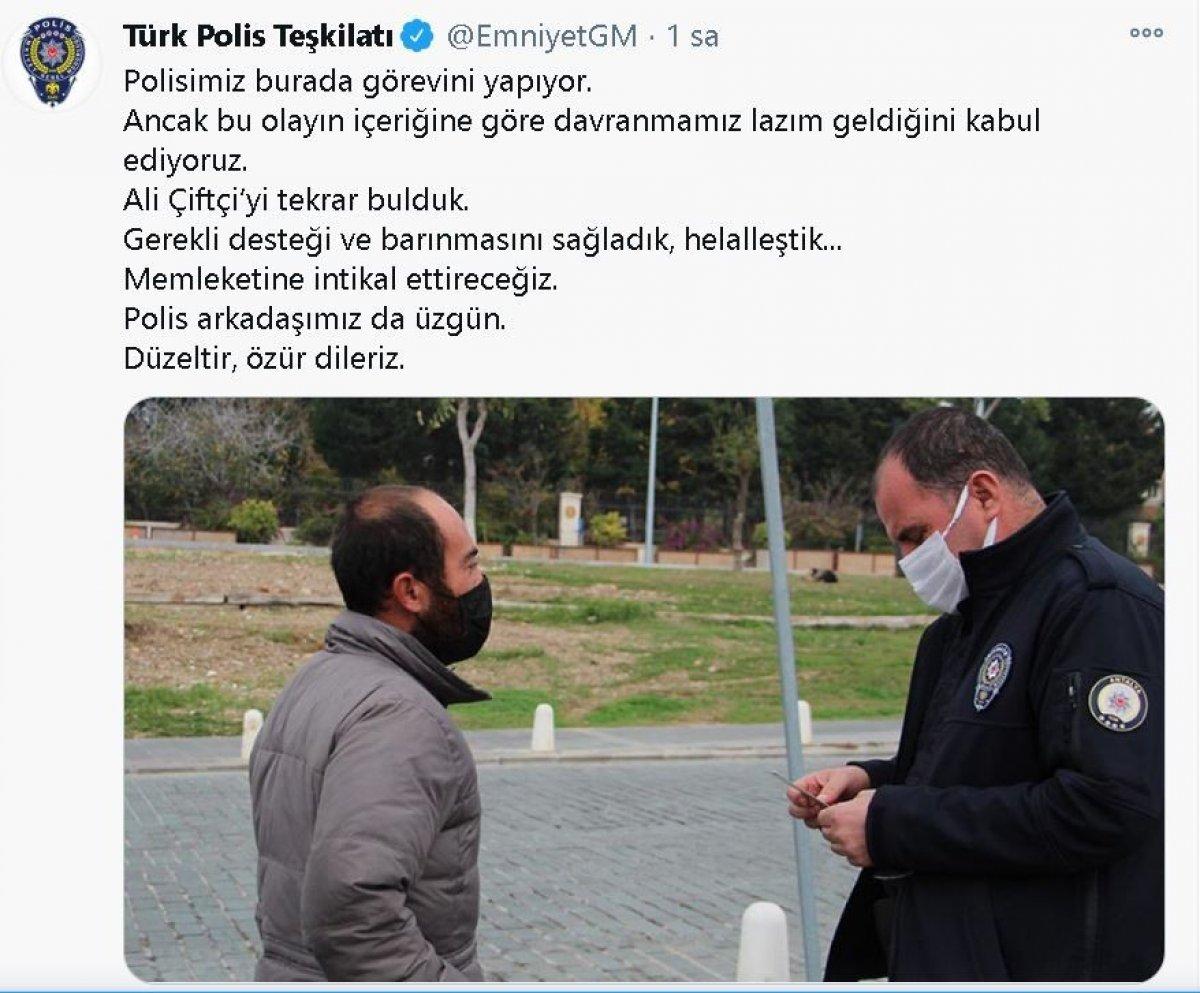 Antalya da ceza kesilen evsiz sokakta uyurken bulundu #5