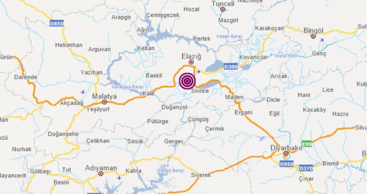 Elazığ da 5.3 büyüklüğünde deprem #4