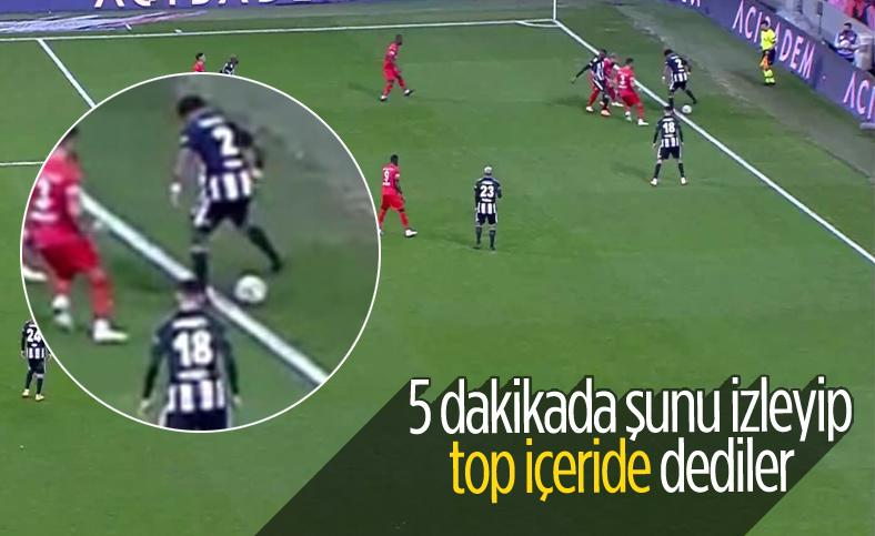 Güven Yalçın'ın golü öncesi tartışılan taç pozisyonu