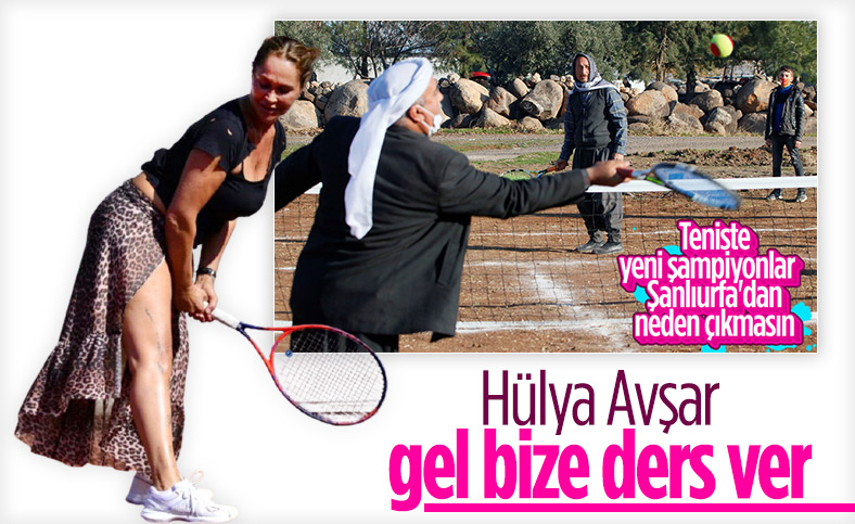 Şanlıurfalı tenisçilerden Hülya Avşar'a maç daveti