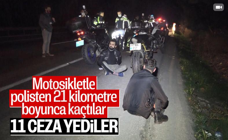 Bursa'da polisten kaçan motosikletli, 21 kilometre sonra yakalandı