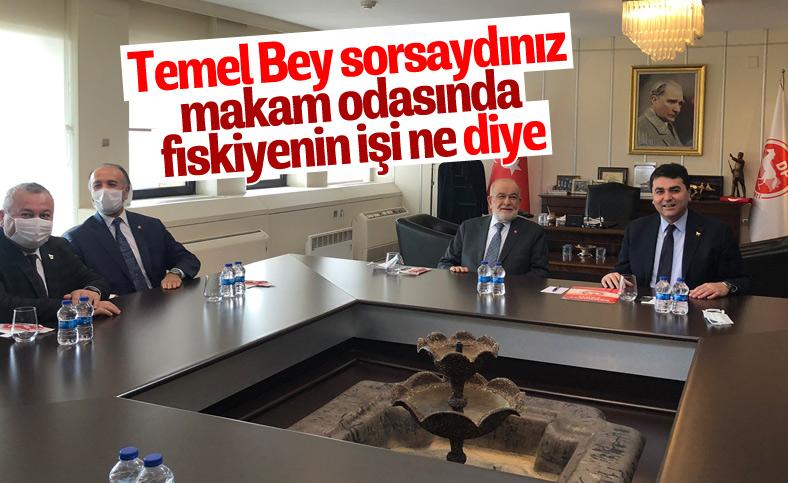 Temel Karamollaoğlu, Gültekin Uysal'ı ziyaret etti