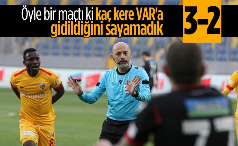 4 golün iptal olduğu maçta kazanan Gençlerbirliği