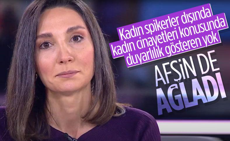 Afşin Yurdakul, Aylin Sözer cinayetine tepki gösterirken ağladı