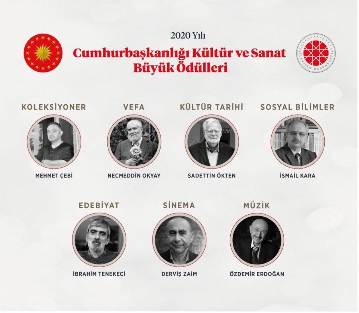 Cumhurbaşkanlığı Kültür ve Sanat Büyük Ödülleri sahiplerini buldu #1