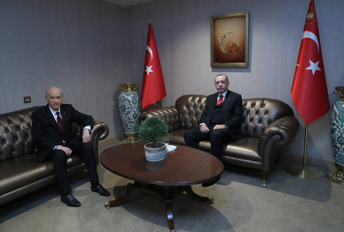 Cumhurbaşkanı Erdoğan, Devlet Bahçeli ile görüştü #1