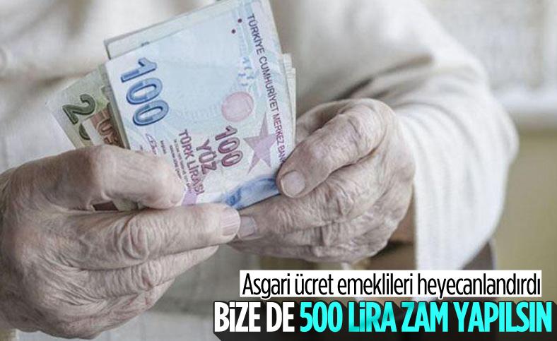 Emekliler de asgari ücretteki artış oranında zam istiyor