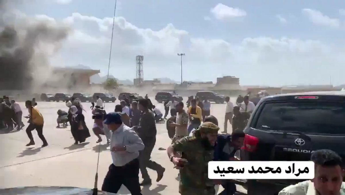 Yemen'deki Aden Havaalanı'nda büyük bir patlama meydana geldi #4
