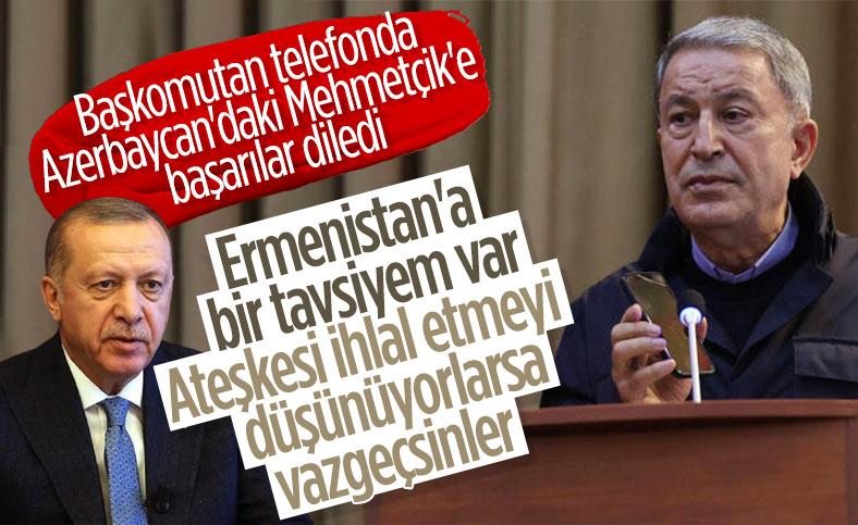 Cumhurbaşkanı Erdoğan, Bakü'de görev yapan Mehmetçiklere seslendi