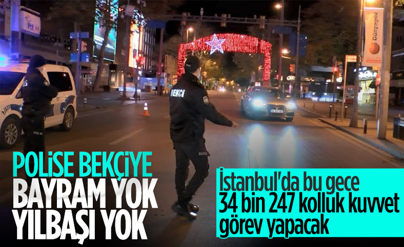 İstanbul'da yılbaşı gecesi görev yapacak güvenlik personeli sayısı